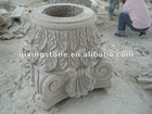 Hand Carved Stone Pillar Capital