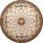 Custom Marble Dark Emperador Oval Waterjet Inlay Medallion