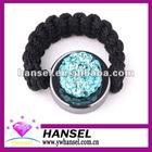 Crystal disco ball orion rings shamballa rings
