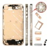 Middle Metal Plate Faceplates Cover White Rhinestone for iPhone 4s- Rose Gold