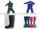 pvc rain boots, pvc rain coat, pvc gum boots
