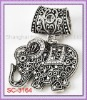 Hard To Find!!!! SC-3164 Scarf Accessories In Elephant Design With Antique Silver Tone