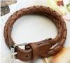 newest fashion multilayer leather twist strap type bracelet