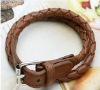 newest fashion multilayer leather twist strap type bracelet