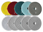 5 Steps White Polishing Pads for Marble Wet Polishing