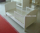 pine wood children kid bed with side rail