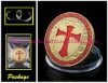One Troy Oz Pure Gold Clad Knights Templar Coin