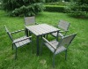 Outdoor plastic wooden furniture with aluminum frame