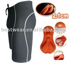 NEW unisex black/white 2.1cm silicon padded waist string cycling shorts bike shorts
