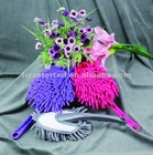 Chenille fabric cleaning brush