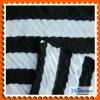 Jacquard knitting black white stripe fabric