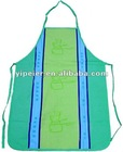 white cotton doctor apron