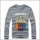Long sleeve custom t shirt screen printing
