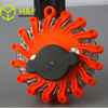 Rechargeable 9 in 1 red color flash traffic warning lights