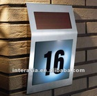Solar House Number Sign Light