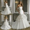 Fabulous beaded sweetheart organza mermaid wedding dresses 2013