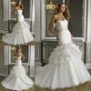 Fabulous beaded sweetheart organza mermaid wedding dresses 2013