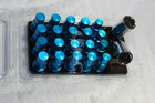 12X1.5 1.5 ACORN RIM DURA 20 BLUE VOLK RAYS 50MM EXTENDED WHEEL LOCK LUG NUTS