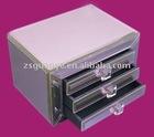 3 drawers classic design glass jewelry box
