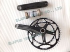 2011 black carbon bicycle road chainwheel crank compact 53/39T including BB