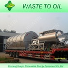 High oil yield truck tire to oil pyrolysis machine
