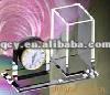 Calendar penholder/acrylic penholder with clock/penholder with calendar