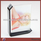 Pretty Oblong Magnetic Counter Acrylic/Perspex Picture/Photo/Card Holder/Frame with Black Border