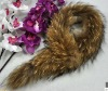 Natural raccoon dog fur collar