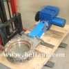 Flow control gate valve with good modulating