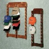 wooden wall hat rack, hat rack, wall hanging
