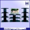 Black Corner TV set furniture MGR-9719