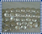 Grade A 20mm Freshwater Coin Pearl Strands PLR204