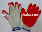 working cotton gloves with rubber coated