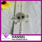 Rhinestone skull cross white decorative bra straps