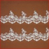 Vivid Neat Ivory Shining Flower Embroidery Lace