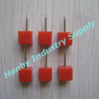 20mm Solid Red Color Square Push Pin
