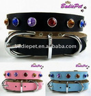 Top Qualiaty 100% Real Cow Leather Acrylic Dog Collar