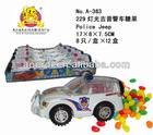 Police Jeep toy with candies