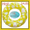 2011 newly plastic pvc air inflatable swim ring for kids with funny play printing.