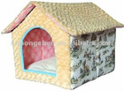 dog house dog bed/plush dog house dog bed