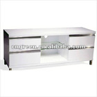 White MDF high gloss lacquer TV stand