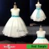 2012 Fashion design lovely white two straps flower girl dresses