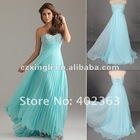 A-line Sweep/ Brush Train Satin Chiffon beaded 2012 hot sale new designer single strap wedding dresses