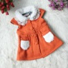 Sweetly Fuzzy Collar Bowknot Decorated Vest Orange TZ12091703-3