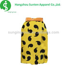 women's newest fashion with tadpole pattern yellow knitted skirt