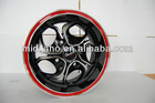 13 inches Car Alloy Wheel Rims with red lip