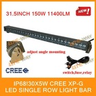 5w CREE XP-G single row led light bar ,150w power,10500lm ,IP68,off road led light bar.led driving light