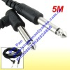 """6.35mm 1/4"""" Male to Male Jack Mono Plug Guitar Cable 5M"""