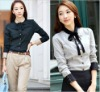 fashion casual 100%cotton lady shirt,Blouse,womens clothing,ladies office wear,new blouses fashionable 2012,women office uniform
