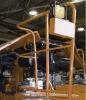 machine frame tube fabricated with powder coating finish